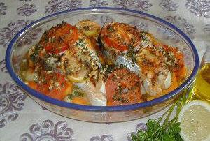 recette poisson au four , cuisine Tunisienne